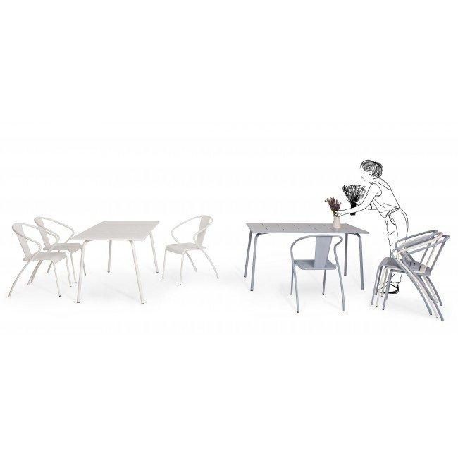 Sedia C-Br Annency Bianco
