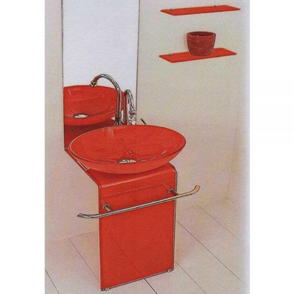 Mobile Bagno Calla C-Rubinetto Rossa
