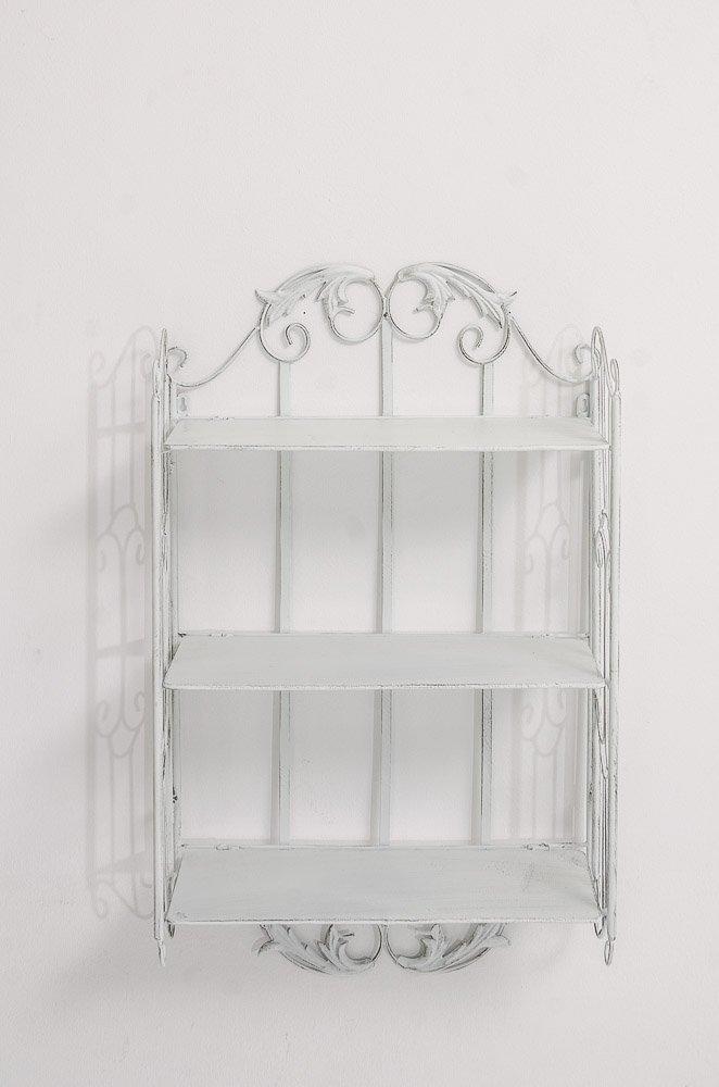 Scaffale A Muro Ella Bianco Antico